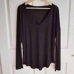 Athleta Black Cloudlight Relaxed Top Size Large